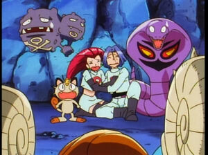 Team Rocket with Fossil Pokemons