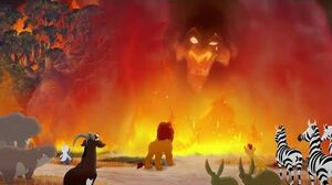 Lion Guard SCAR APPEARS TO THE PRIDE LANDERS The Fall of Mizimu Grove HD Clip