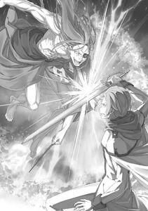 ReZero Volume 23 Reid clashing with Julius Illustration