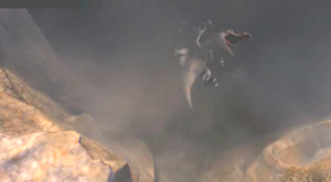 Rudy falls into chasm