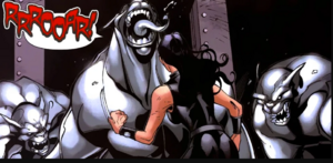 Laura Kinney (Earth-616) and Predator X from New X-Men Vol 2 20 0001