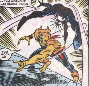 Thomas Fireheart and Peter Parker (Earth-616) from Amazing Spider-Man Vol 1 257 003.jpg