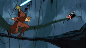 Anakin pursues Asajj