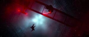 Han Solo falls