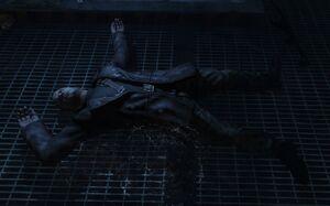 Dragovich's dead body