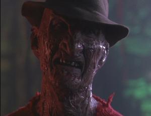 Freddy Krueger's menacing stare