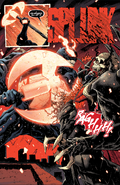 Knull (Earth-616) , Knull's Symbiote (Earth-616) and Edward Brock (Earth-616) from King in Black Vol 1 5 002