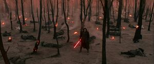 Kylo defeats the Sith cultists