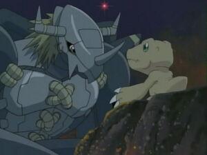 BlackWarGreymon with Agumon