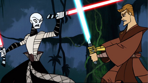 Skywalker Ventress clashing