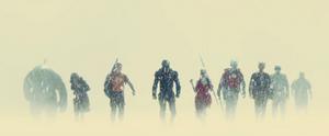 The Suicide Squad in the rain