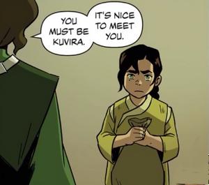 Young Kuvira meets Suyin Beifong