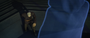 Darth Sidious materializes