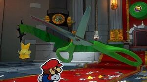 Paper Mario Origami King - Scissors Boss Fight 13