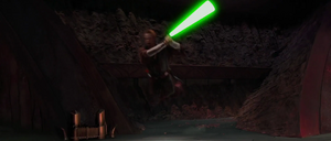 Anakin Jedi leap