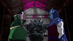 Shredder meets Ra's al Ghul Batman Vs Teenage Mutant Ninja Turtles