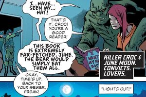 Killer croc save June Moone reading