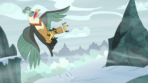 Roc Chrysalis gets blown backward S9E8