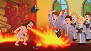Jesus Burns a Choir