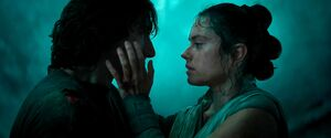 Rey looking at Ben