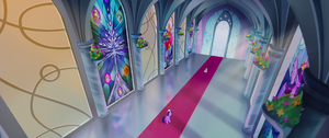 Twilight and Spike in the castle corridor MLPTM