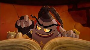 Brujo with his spell book
