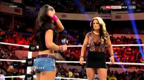 AJ Lee's Pipe Bomb On Kaitlyn - WWE Raw WWE Raw 6 10 12