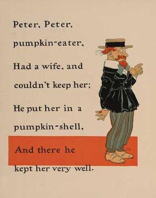 Peter Peter Pumpkin Eater 1 - WW Denslow - Project Gutenberg etext 18546.jpg