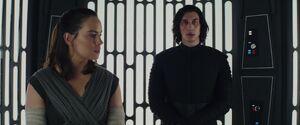 Rey and Kylo - elevator scene