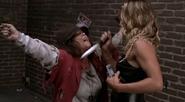 Rachel stabbing a crazy religious woman to death