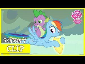 Rainbow Dash and Spike Retrieve Flash Magnus' Shield (Shadow Play) - MLP- FiM -HD-