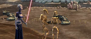Asajj ordering droids Rugosa