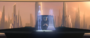 Palpatine desk hologram
