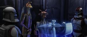 Chancellor Palpatine desk hologram