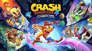 Crash Bandicoot 4 i t's About Time Key art