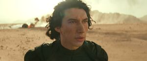 Kylo surprised when Rey shoots lightning