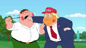 Trump Punches Peter Bloody