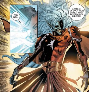 Malekith (Earth-616) reveals himself to Angela from Angela Asgard's Assassin Vol 1 6