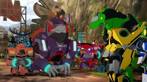 Steeljaw's Pack with Grimlock and Bumblebee