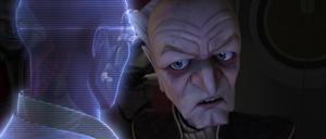 Chancellor Palpatine Windu hologram
