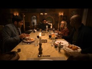 """Lucifer 5x09 Family Dinner scene """"I was the King of Hell but i was still in Hell"""""""