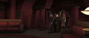Chancellor Palpatine leaving
