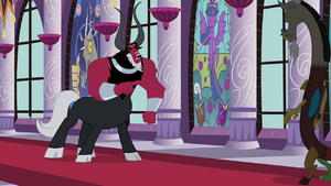Tirek pointing at Discord S4E26