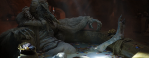 SkekOk enjoying his bath