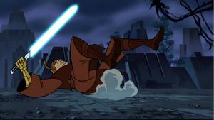 Anakin thrown