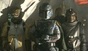 Boba Fett in the palace of Jabba