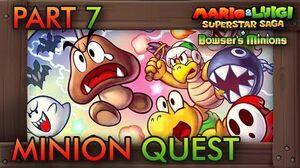 Mario & Luigi Superstar Saga Bowser's Minions - Minion Quest Part 7 (Bowser's Castle) FINAL BOSS