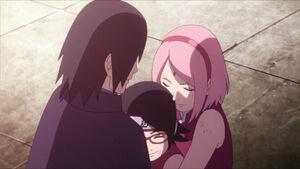 Uchiha family hug