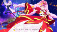 Cure Scarlet (Princess of the Flames) vs. Shut (Opening)