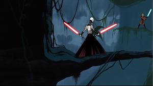 Skywalker Ventress stare-down